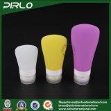 (1oz 2oz 3oz) de Kosmetische Fles van de Lotion niet-Lekt de Gedrukte Buis van het Reinigingsmiddel van het Silicone Gezichts