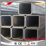 Aislante de tubo hueco cuadrado laminado en caliente negro del acero de la estructura de la sección