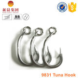 Gancho de leva del atún del acero de alto carbón 9831