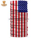 Многофункциональным изготовленный на заказ напечатанный национальным флагом Bandana полиэфира Microfiber