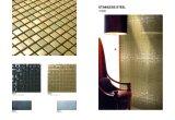 De gouden Tegel van de Muur van het Mozaïek van het Roestvrij staal