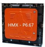 Pantalla de visualización a todo color de fundición a presión a troquel de LED del vídeo de la cabina P6.67 SMD LED SMD LED del aluminio a todo color al aire libre al aire libre del módulo P6.67 de P6.67 Moudle para el alquiler al aire libre