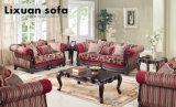 Tabella classica del tessuto del sofà dell'oggetto d'antiquariato di amore della presidenza americana della sede impostata con il blocco per grafici di legno