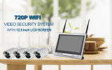 720p 960p HD CCTV de 12,5 pulgadas LCD Monitor Wireless WiFi Kit de cámara de red IP