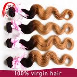 Capelli umani estratti doppio del Virgin brasiliano dei capelli di Ombre 1b/27