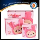 Kundenspezifische rosafarbene Liebes-Papier-Geschenk-Beutel-Papier-Einkaufstasche