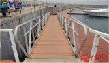 China stellte Aluminiumlegierung-Passage-Strichleiter mit Handlauf her