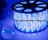 Cuerda al aire libre y de la luz LED de luz/TIRA DE LEDS de luz/Luz de Neón/Luz de Navidad de luz/Vacaciones/Hotel/Bar de la luz de la ronda de la luz de dos cables de color azul 25LED de 1,6 W/M DE TIRA DE LEDS