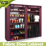 De aço inoxidável com armário de sapata Portáteis com cobertura de tecido