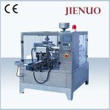 Empaquetadora líquida de la bolsa del polvo Premade del gránulo rotatorio automático de Jienuo