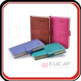 Het professionele Notitieboekje van de Ontwerper van de Agenda van het Document van Hardcover van het Leer van de Douane Pu