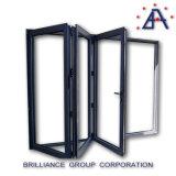 Porte pliante, porte pliante en aluminium, porte pliante commerciale avec Siegenia Hardware