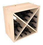 Cremalheira feita sob encomenda do cubo do vinho do armazenamento do indicador da madeira de pinho 24-Bottle do tamanho