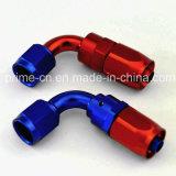 Alluminio An6 montaggi di estremità del tubo flessibile della parte girevole da 90 gradi