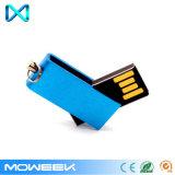 Mini movimentação instantânea da pena do USB da vara da promoção do giro/metal da torção