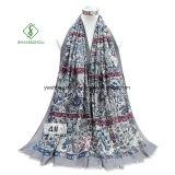 Fleur imprimé châle Satin épais Fashion Lady foulard
