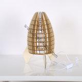 DIY moda saudável madeira decorativa crianças Rocket lâmpada de mesa