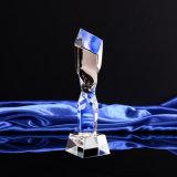 Trofeo barato vendedor caliente del vidrio cristalino