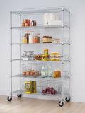 800lbs cozinha industrial Prateleira de armazenamento do fio de metal cromado Rack de prateleiras