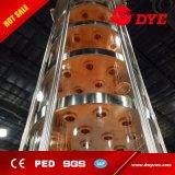 colonna di vetro di distillazione frazionata della scanalatura dell'etanolo 150L