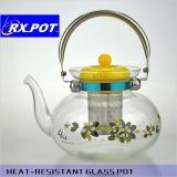 Heat-Resistant délicat verre pot pot de café / thé