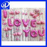 """De Vorm """"I van het hart houdt van u"""" de Ballons van de Folie, de MiniBallons van de Folie van de Vorm, de Ballons van de Folie van de Stok"""