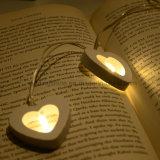 Corazón de madera de interior Luces con pilas decorativo blanco cálido