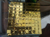 Het gouden Mozaïek van het Glas van de Diamant voor de Tegel van de Muur, het Mozaïek van de Spiegel van de Tegel van het Mozaïek van de Diamant (HD087)
