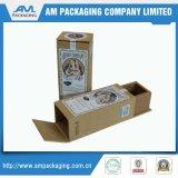 A caixa de configuração Kraft marrom com impressão de etiquetas Caixa interior Segure o tubo de cosméticos