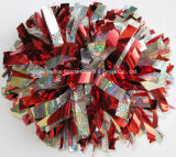 2016 metaalRed&Silver POM Poms