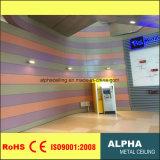 Façades en aluminium extérieures et d'intérieur de panneaux de revêtement de mur en métal
