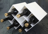 Singolo contenitore di plastica libero di vetro di vino