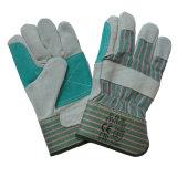 Lederne schützende Arbeits-Handhandschuhe für Raffinerie Anti-Löschen