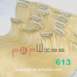 Grampo de cabelo humano em grampo de cabelo na extensão de ondulação de cabelo (PPG-c-0084)