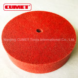 6 * 1/8 * 2 Red Non-Woven Wheel