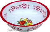 Revestimiento en polvo con una decoración Teay esmalte color rojo