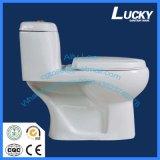 6# Washdwon/gravedad One-Piece S trampa wc de cerámica en baño de porcelana sanitaria con Ce/Saso