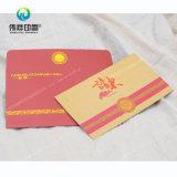Salutations de gaufrage personnalisé / Carte d'Invitation avec enveloppe de l'impression