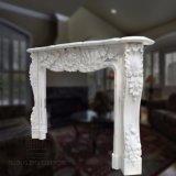 Estilo francês lareira em mármore branco natural para decoração M-13