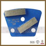 De dubbele Stootkussens van de Vloer van het Metaal van de Diamant van de Staaf Malende Oppoetsende voor Concrete Molen