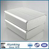 Recinto electrónico de extrusión de aluminio con recubrimiento en polvo