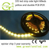 Vista lateral de color blanco cálido Flexible SMD335 9.6W/M DE TIRA DE LEDS