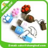 USB de borracha personalizado personalizado para promoção (SLF-RU006)