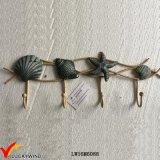 Seashell vintage metal artesanal ganchos decorativos de pared