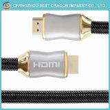 이더네트 나일론 메시를 가진 4K 2.0 아연 쉘 고속 HDMI 케이블