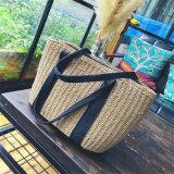 Totes materiali delle borse dei sacchetti delle signore di svago della paglia semplice di stile