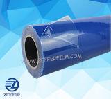 Le bleu transparent film PE de surface des plaques métalliques
