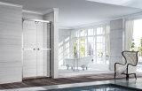Banheiro vaidade base acrílica largura 1500 para duche com vidro temperado
