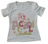 Le T-shirt mignon de fille d'enfants de chat chez l'usage des enfants vêtx Sgt-077