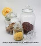 De vrije Kruik van de Opslag van de Korrel van het Keukengerei van de Kruik van de Opslag van het Voedsel van het Glas van de Steekproef met de Container van het Voedsel van het Deksel van het Glas